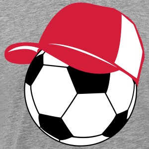 Football baseball cap  T-Shirts - Men's Premium T-Shirt