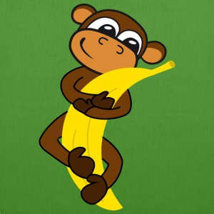 Monkey with banana Bags & backpacks - EarthPositive Tote Bag