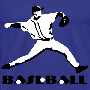 Baseball, Baseball Player T-Shirts - Mannen Premium T-shirt