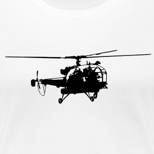 Helicopter Tee shirts - T-shirt Premium Femme