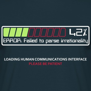 Failed to parse irrationality - Men's T-Shirt