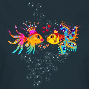 FiSH IN LOVE, Bubbles, Sea, Ocean, Holiday, Surf T-Shirts - Women's T-Shirt