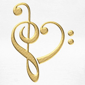 Bass clef heart, treble clef, music lover, notes Koszulki - Koszulka damska