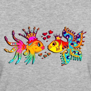 FISH IN LOVE, Bubbles, Sea, Ocean, Holiday, Surf T-Shirts - Women's Organic T-shirt