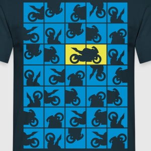 Domino Motorcycle  T-Shirts - Men's T-Shirt