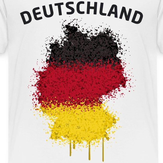 Teenager Fußball Fan T-Shirt Deutschland Graffiti