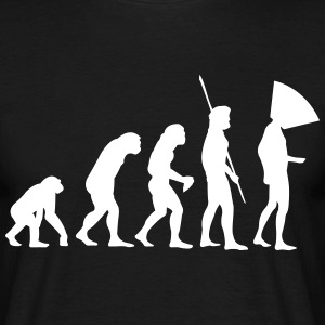 Evolution Hundehalsbånd  T-shirts - Herre-T-shirt
