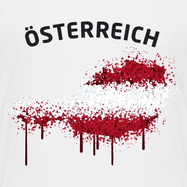 Teenager Fußball Fan T-Shirt Österreich Graffiti
