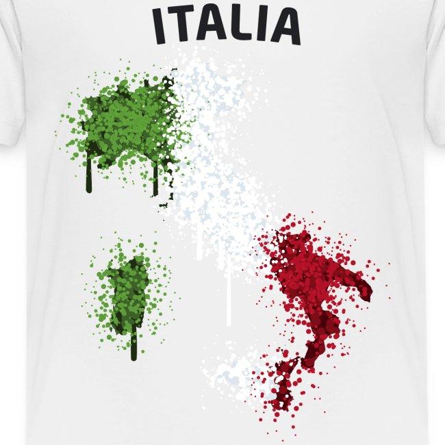 Teenager Fußball Fan T-Shirt Italia Graffiti