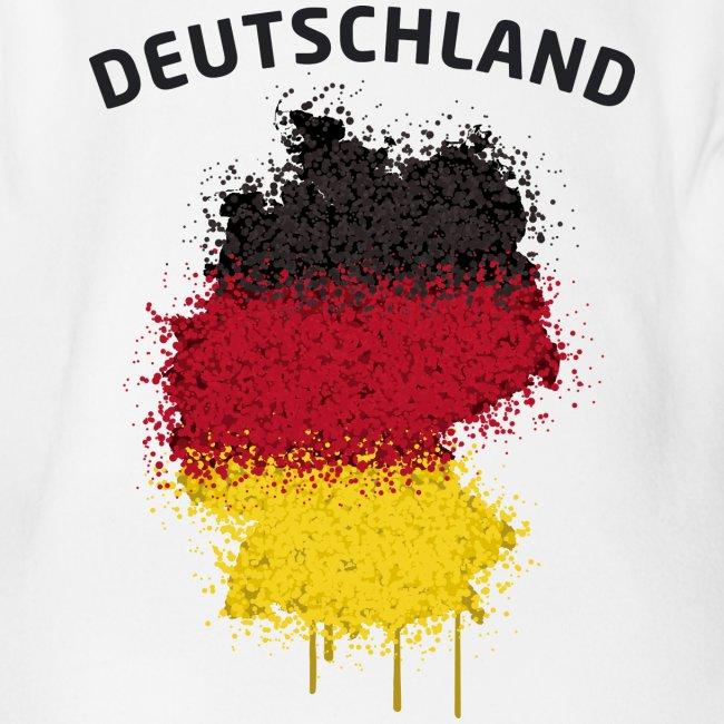 Baby Kurzarm Body Fußball Fan Deutschland Graffiti