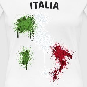 Italia Text Landkarte Flagge Graffiti T-Shirts - Frauen Premium T-Shirt
