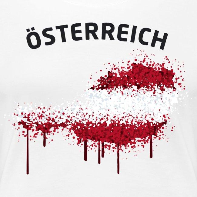 Damen Fußball Fan T-Shirt Österreich Graffiti