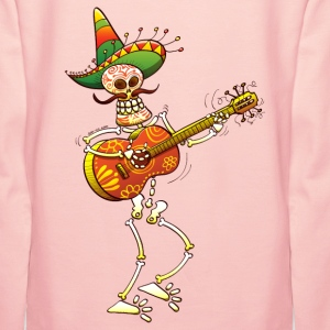 Mexican Skeleton Playing Guitar Hoodies & Sweatshirts - Women's Premium Hoodie