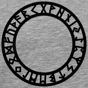 Rune Circle, Magical, Symbol, Futhark, Old Norse,  T-Shirts - Men's Premium T-Shirt