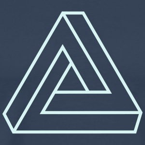 Penrose triangle, Impossible, illusion, Escher T-shirts - Premium-T-shirt herr