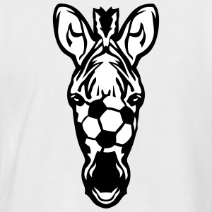 foot zebre soccer football zebra ballon Tee shirts - T-shirt baseball manches courtes Homme