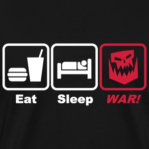 eat sleep war 2c T-Shirts - Men's Premium T-Shirt