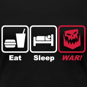 eat sleep war 2c T-Shirts - Women's Premium T-Shirt
