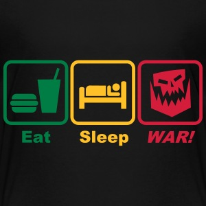 eat sleep war 3c Shirts - Kids' Premium T-Shirt