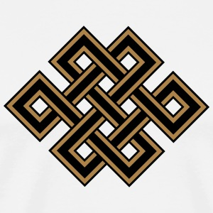 Tibetan endless knot, eternal, celtic, loop, luck T-Shirts - Männer Premium T-Shirt