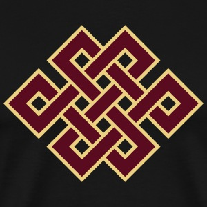 Buddhist endless knot, eternal, Tibet, celtic T-Shirts - Men's Premium T-Shirt