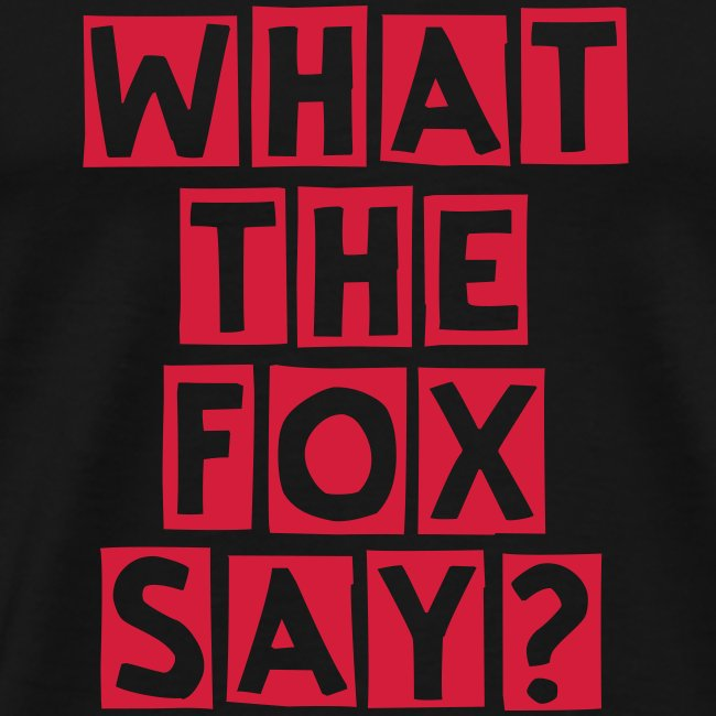 what the fox say?