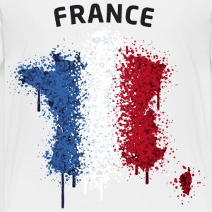 France Text Landkarte Flagge Graffiti T-Shirts - Kinder Premium T-Shirt