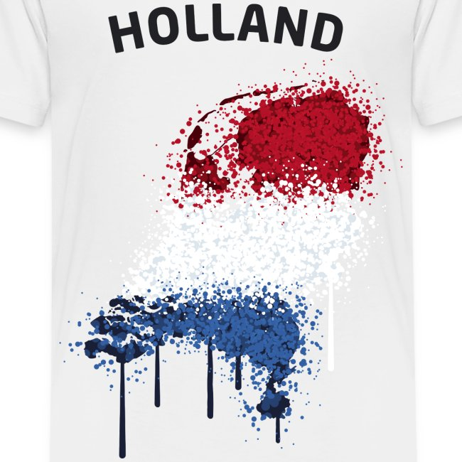 Kinder Fußball Fan T-Shirt Holland Graffiti