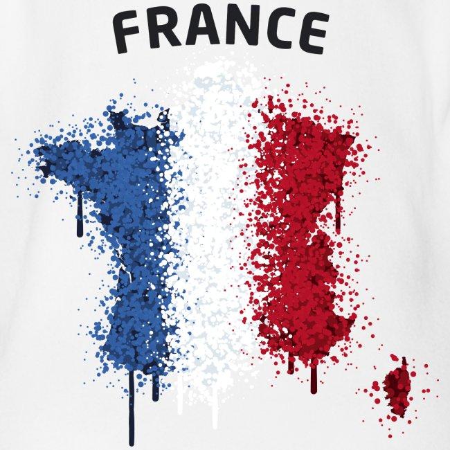 Baby Kurzarm Body Fußball Fan France Graffiti