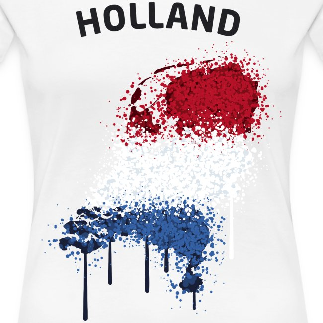 Damen Fußball Fan T-Shirt Holland Graffiti