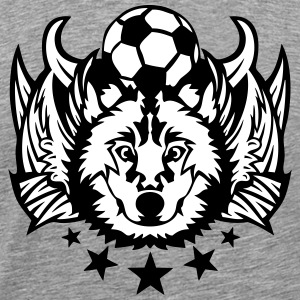 foot wolf loup logo sport aile club foot Tee shirts - T-shirt Premium Homme