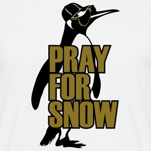 pinguin_pray_for_snow T-shirts - Mannen T-shirt
