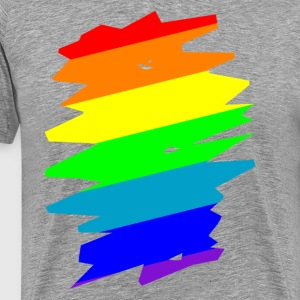 Rainbow Scratch  T-shirts - Herre premium T-shirt