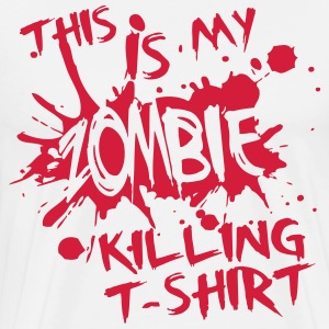 This is my zombie kiling t-shirt T-skjorter - Premium T-skjorte for menn