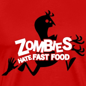 Zombies hate fast food T-shirts - Mannen Premium T-shirt