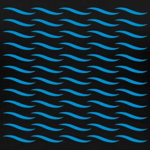 Waves Pattern T-shirts - Dame premium T-shirt