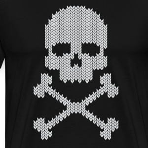 skull knitted  T-Shirts - Men's Premium T-Shirt