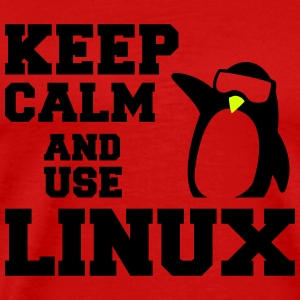 keep calm use linux T-Shirts - Men's Premium T-Shirt