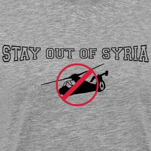 stay out of syria T-Shirts - Men's Premium T-Shirt