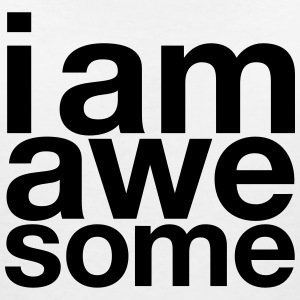 I AM Awesome T-shirts - T-shirt med v-ringning dam