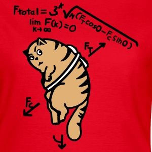 Mathe T-Shirt - Anti Gravity Katze auf Toast T-Shirts - Frauen T-Shirt