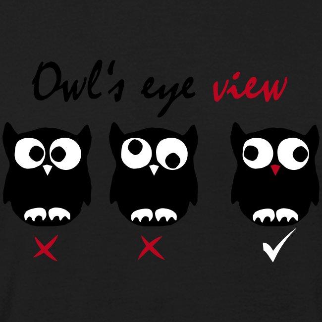 Eulenblick 3farbig (schwarz) Flockdruck --------------------------------------------------------------