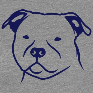 Staffbull HEAD v2 1c_4light T-Shirts - Frauen Premium T-Shirt