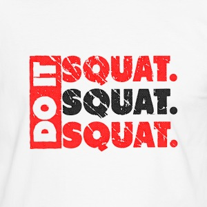 Do It. Squat.Squat.Squat | Vintage Style Tee shirts - T-shirt contraste Homme