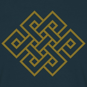 Tibetan endless knot, eternal, infinity, celtic T-Shirts - Men's T-Shirt