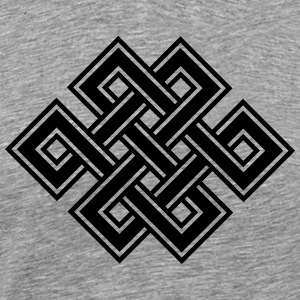 Tibetan endless knot, eternal, buddhism, celtic T-Shirts - Men's Premium T-Shirt