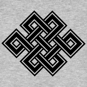 Tibetan endless knot, eternal, buddhism, celtic T-Shirts - Men's Organic T-shirt