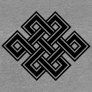 Tibetan endless knot, eternal, buddhism, celtic Tee shirts - T-shirt Premium Femme