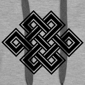 Tibetan endless knot, eternal, buddhism, celtic Hoodies & Sweatshirts - Women's Premium Hoodie