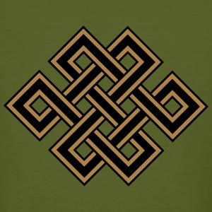 Tibetan endless knot, eternal, celtic, loop, luck T-Shirts - Men's Organic T-shirt